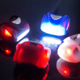3AAA Powered Silicon corps Vélo 5 LED de lumière que la circonscription de la route sûre le pignon