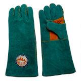 16 Beschermende Handschoenen van de Hand van het Leer van de Koe van de duim de Gespleten voor Lassen