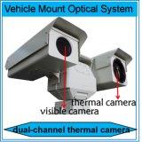 Fahrzeug eingehangene Doppelfühler-Sicherheits-Überwachung PTZ IP-Thermalkamera