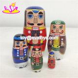 Personalizar rusa Matryoshka de muñecas de madera para niños W06D094
