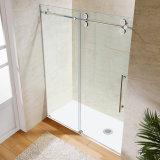 8mm 공간 유리와 스테인리스 기계설비를 가진 샤워 문을 미끄러지는 Frameless