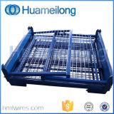 Для объединения в стек для тяжелого режима работы складной металлический Stillage проволочной сетки