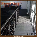 Barandilla montada cara del pasamano del cable de /Stairs del pasamano del alambre del acero inoxidable (SJ-H1386)