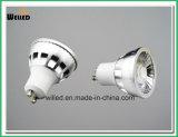 220V/110V 0-100% Traic Dimmable 좁은 각을%s 가진 순수한 알루미늄 5W LED GU10 스포트라이트 반점 빛 80ra 90ra 95ra
