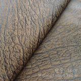 Bronzage du tissu 100% de Nubuck de polyester de suède pour des couvertures de sofa