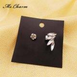 Orecchini del polsino dell'orecchio di asimmetria dell'ala del Rhinestone per le donne