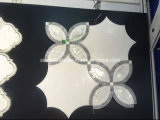 Мраморы и плитки Thassos смешивания Carrara белым белым водоструйным сформированные цветком естественные