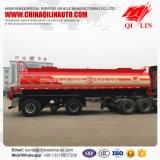 D'acier inoxydable de liquides de mémoire de camion-citerne remorque corrosive semi