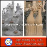 Talla de piedra natural con la escultura de piedra animal (DES-SH019)