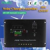 O carregador solar 40A 12V/24V do controlador do microcomputador PWM Dual USB