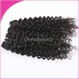 卸売のバージンの人間の毛髪の織り方の巻き毛の人間のペルーの毛の拡張