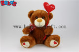 Chocolat Stuffed Valentines Day Teddy Bears avec Red Heart Style Balloon