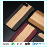 Hölzerner Muster-Leder-Rückseiten-Fall für iPhone 7/7 Plus