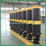 Cilindro hidráulico de múltiples etapas para la máquina de la construcción