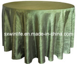 Couvercle de la Table ronde, crêpe Table taffetas chiffon (WLTC013)