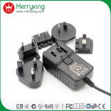 Adaptador de alimentação CA 24V1.5A com cabos intercambiáveis Au UK EU Jp Cn Plugs