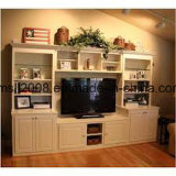Governo di legno solido moderno della TV con la vetrina laterale