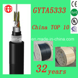 GYTA5333 Cable de fibra óptica trenzado de 8 conductores con fibra monomodo