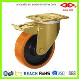 PU Wheel Nylon Hub Heavy Duty Caster (P160-26F125X45S)
