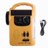 Rd339 LEDの多機能の緊急の太陽ダイナモのラジオの手動クランクのダイナモUSBの充満懐中電燈