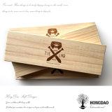 Doos van de Band van Hongdao de Houten met Naar maat gemaakt Embleem