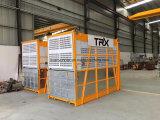 Élévateur de construction avec les cages simples ou doubles pour le matériau ou le passager