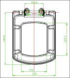 Couverture de portée de grand dos de couvercle de toilette de Duroplast avec la fonction de fin de doux