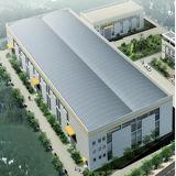 プレハブの鉄骨構造の大きいスパンの研修会か倉庫