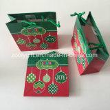 Mini sac de cadeau de papier d'imprimerie de Noël