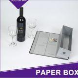 Изготовленный на заказ твердая упаковка коробки подарка вина бумаги карточки