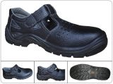 Sapatos de segurança respiráveis de couro preto impresso em couro Ce En 20345