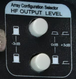 Aktive Lautsprecher-Verstärker-Baugruppe mit +3dB 0dB -3dB Verstärker-Baugruppe