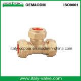 L'ottone diplomato ha forgiato il T femminile di compressione (AV70027)