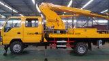 Isuzu 4X2の二重タクシーの空気のプラットホームの手段10mの空気の働くトラック