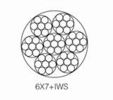 철강선 밧줄 6*7+Iws 선형 접촉 철강선