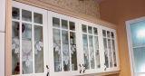 Moder 셰이커 문 백색 비닐에 의하여 감싸이는 PVC 부엌 찬장 (zc-076)