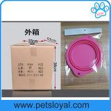 Accessoires compressibles d'animal familier de cuvette de câble d'alimentation de crabot d'animal familier de grands silicones d'usine
