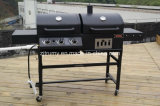 New Design Charcoal AND Gas Grill Combo