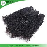 7A等級の卸売の加工されていなく緩い巻き毛のブラジルの人間の毛髪の拡張
