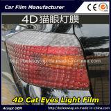 пленка фары автомобиля глаз кота 4D/пленка автомобиля светлая
