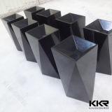黒い浴室の樹脂の石の軸受けの洗面器