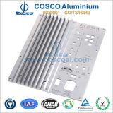 Perfil de extrusión de aluminio mecanizado CNC para electrónica