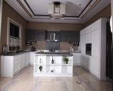 Fábrica clásica de China del diseño de la cabina de los muebles de la cocina de madera sólida de Welbom