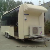 Alimento mobile trainabile Van del rimorchio dell'alimento da vendere