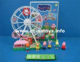 재미있은 장난감 연약한 플라스틱 돼지 회전 관람차 (926236)