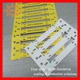 Étiquettes blanches de repère de câble de 3:1 résistant de pétrole