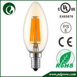 C35 6W 4W 2W E27 E26 E14 LEDのフィラメントの蝋燭の球根のDimmableのアイスクリームLEDの球根