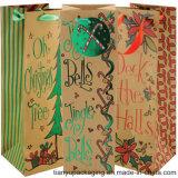 Recicl os sacos de papel do vinho extravagante do presente com punho