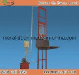 Única plataforma de elevación vertical del mástil de elevación de carga