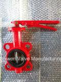Tipo válvula da bolacha da alta qualidade Pn16 de borboleta com punho